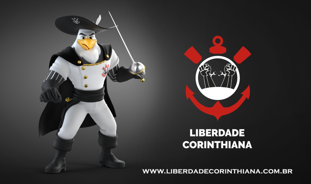 Águia_Mosqueteira_Mascote_da_Frente_Liberdade_Corinthiana
